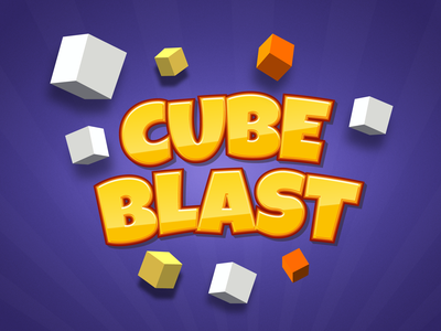 Cube Blast Logo game design illustration vector logo