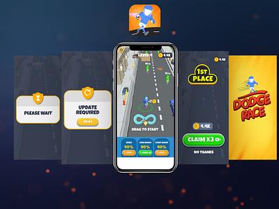 Dodge Race Game UI
