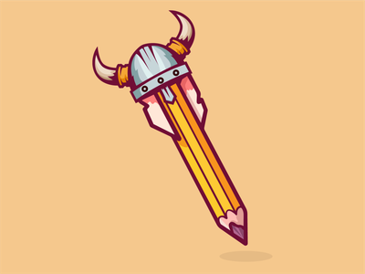Viking Pencil (Maybe New Logo) viking logo viking art pencil design vector logo illustration