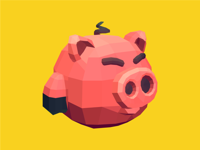 Pig Pig lowpoly vector illustration