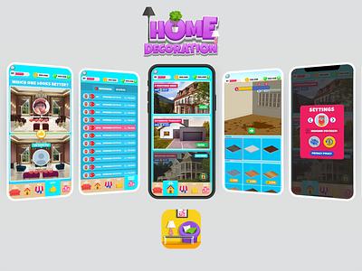 HomeDecoration Game UI/UX minimal leaderboards leaderboard icon ux ui design game vector logo illustration