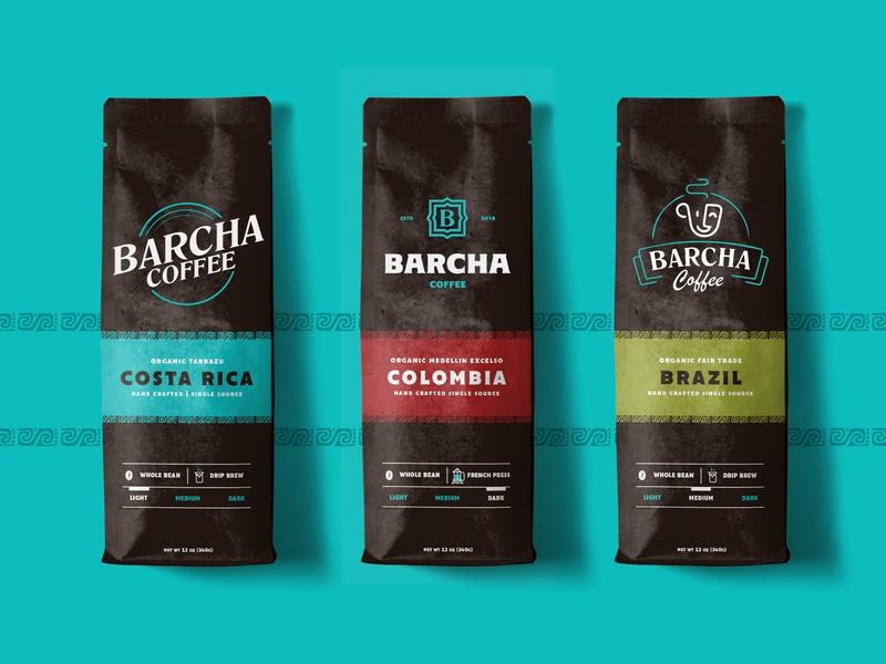 Barcha Coffee Logo Design branding typography design logo