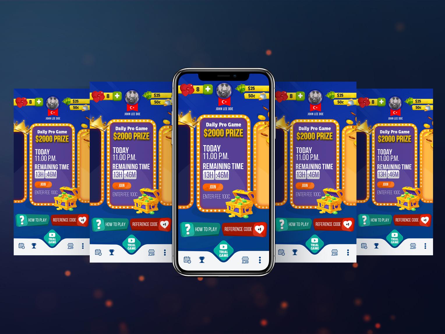 Trivaa Game Concepts game app game ux ui illustration design