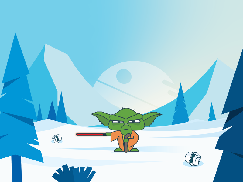 Yoda deathstar stormtrooper star wars yoda