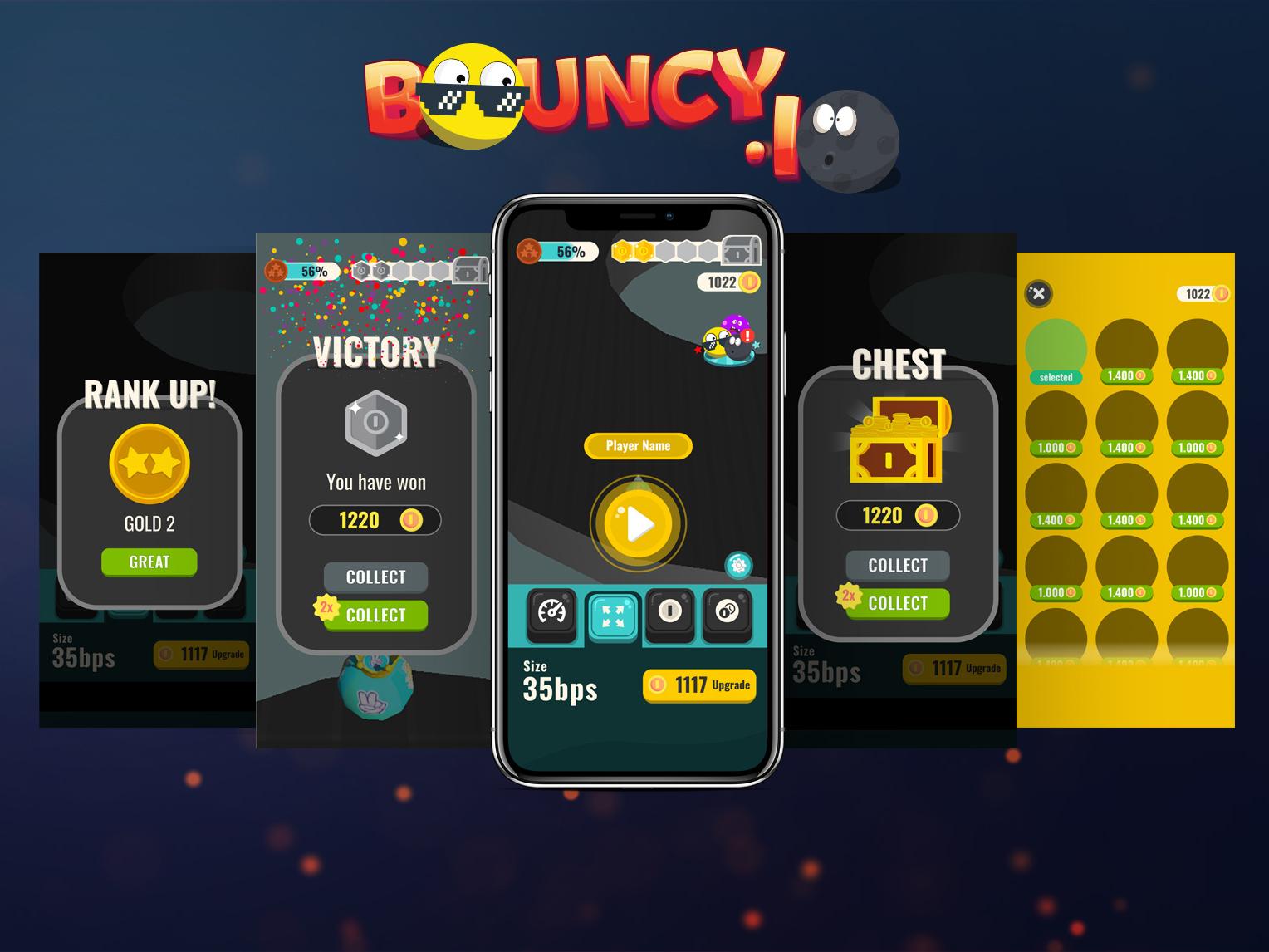 Bouncy.IO Game illustration game design game icon ux ui design