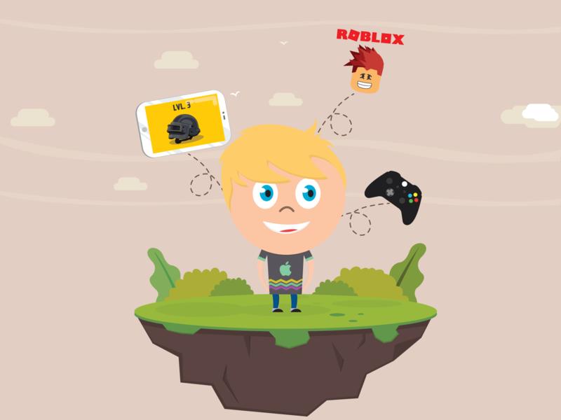 My Son Almir S. xbox pubg roblox game kids vector illustration
