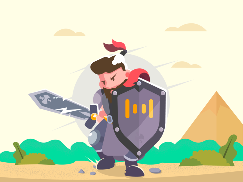 Knight knight character vector game illustration