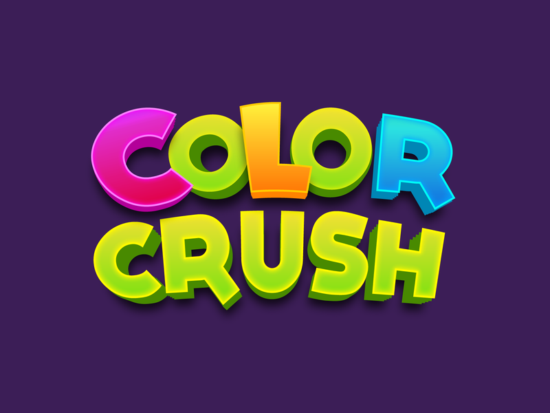 Color Crush Game Logo typography vector game illustration logo