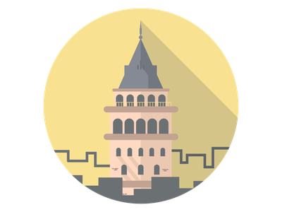 Galata Tower sticker galata tower vector illustration