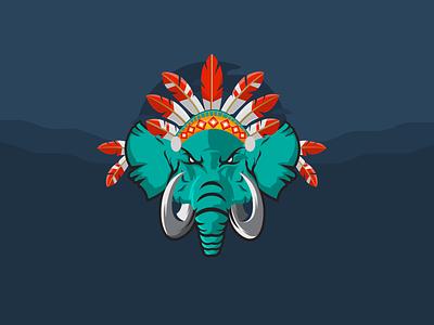 American Indian Elephant elephants vector indian american indian american illustration elephant