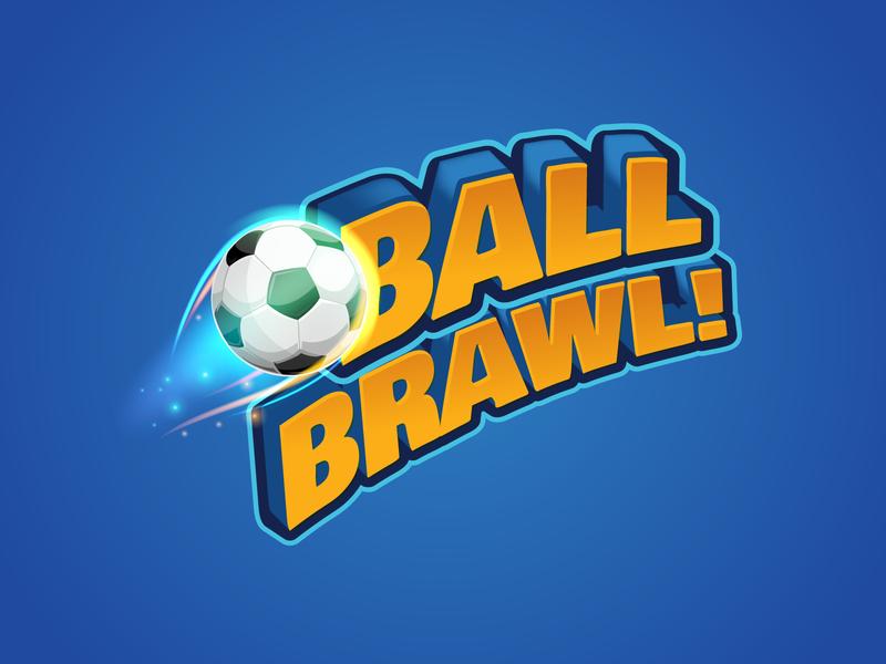 Ball Brawl Game Logo branding icon game logo illustration