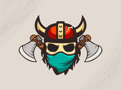 Skeleton Ninja Viking mask vector skeleton viking ninja illustration