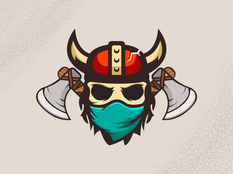 Skeleton Ninja Viking mask vector skeleton viking ninja illustration