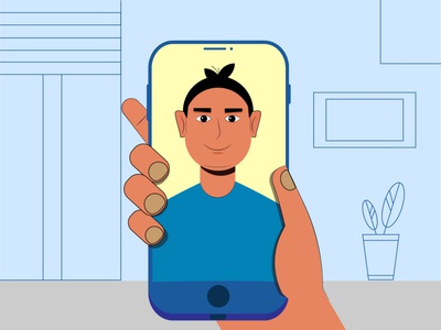 video call design illustration