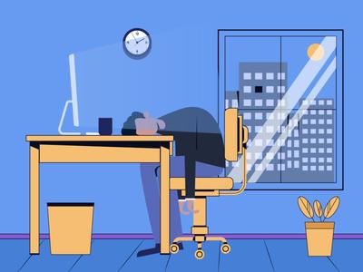 Overwork vector illustration design