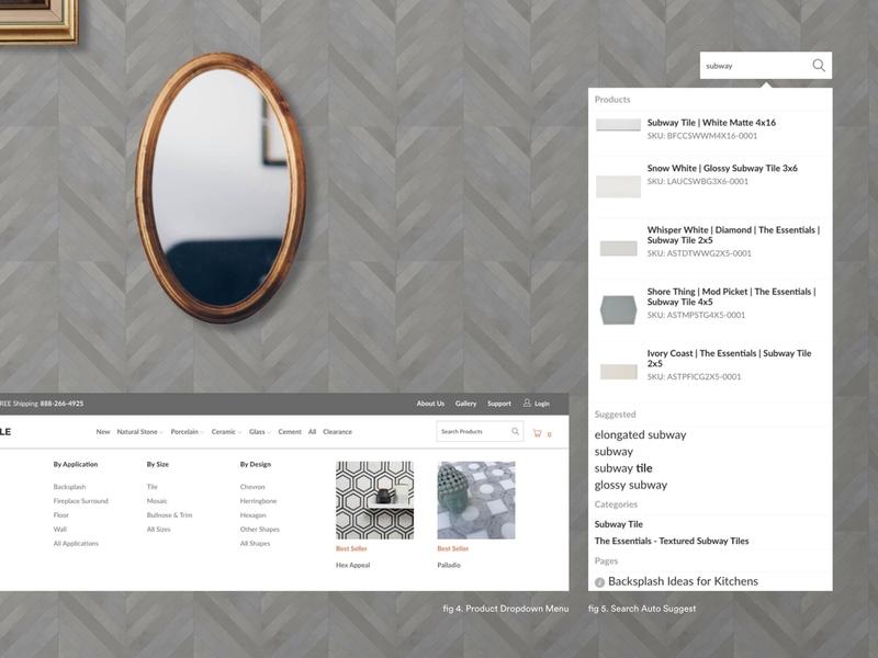Mission Stone & Tile branding shopify clean website design website web ux ui design