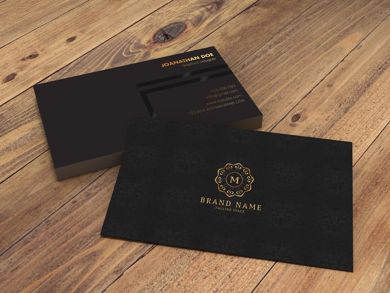 Luxury Business Card businesscard luxury design illustration logo corporate brand identity mockup mordern new unique simple