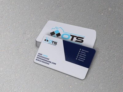 Tiling and Waterproofing Business Card luxury business card illustration brand identity corporate design ui mockup mordern new unique simple