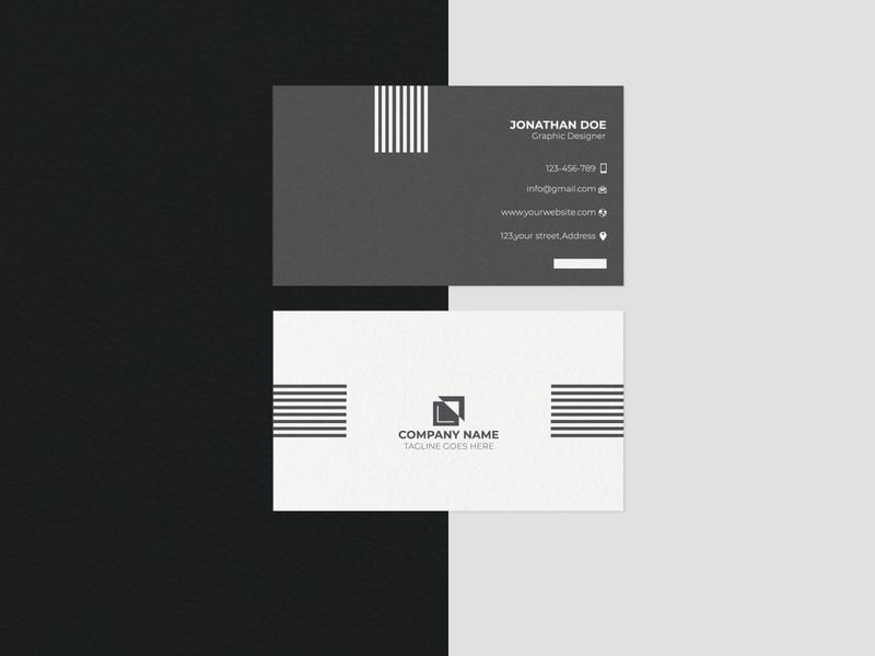 Minimal Business Card illustrations photoshop graphicsdesign vector design ux logo social meda cover minimalist logo minimal business card illustration ui business card mordern corporate brand identity mockup new unique simple