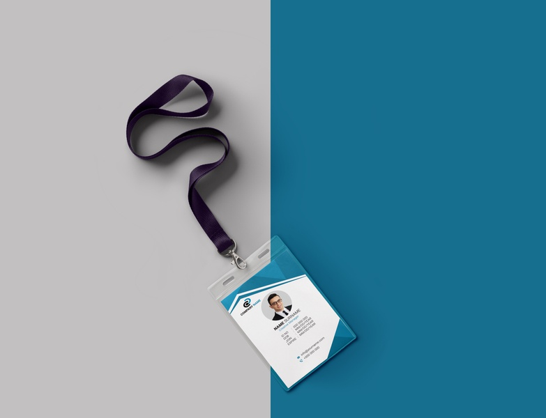 Corporate ID card Template clean business card ui ux corporate mockup mordern unique new simple brand identity corporate id card template