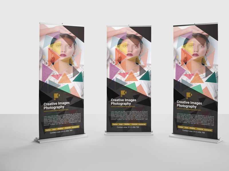 Photography Roll-Up Banner Template ux ui image mordern cover new unique simple professional banner stylish model model photography photography roll up banner