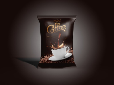 Coffee Packaging Template wrapper stick sachet pouch packaging mockup food packaging mockup food package food foil bag coffee cappuccino can box bar bag advertising
