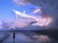 Delphinus painttoolsai photoshop digital painting digital art painting illustration