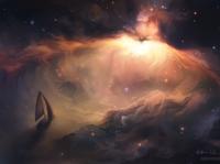 Voyage nebula stars outerspace space fantasy painttoolsai photoshop illustration digital painting digital art
