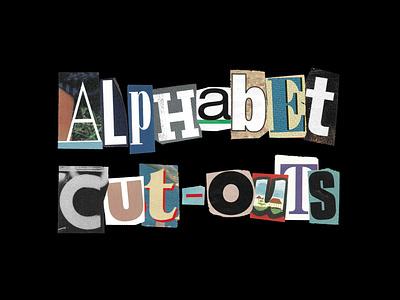 Alphabet Cut-Outs: 450+ Assets cocoloris transparent vintage newspaper magazine typography type font product sale freebie free note ransom letters cut-outs cutouts cut-out cutout graphic design