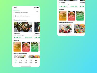 Food delivery app ux figma design ui