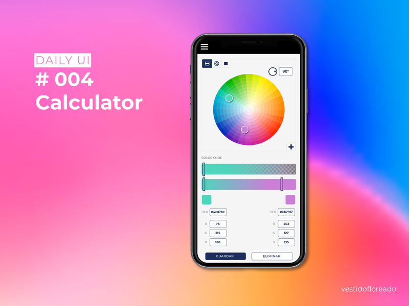 #4 Daily UI challenge- Calculator