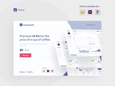 UI Kit landing page statistics ux ui kits ui kit ui dashboard