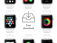 Apple Watch GUI Kit for Sketch