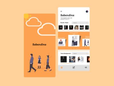 Sabendina mobile app design mobile app mobile ui vector logo ui ux app icon typography designer illustration design