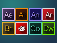 "Adobe CC ""Long Shadow"" Iconset"