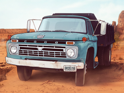 Ford {FINAL} ford truck vintage rust old photoshop drawn canyon handmade