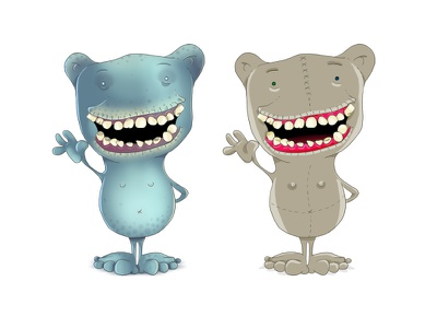 Little Monster monster comic pitch color teeth photoshop drawn