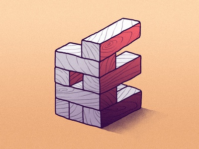E for 36daysoftype (B&W) wood illustration mrcoofs 36days-e 36daysoftype