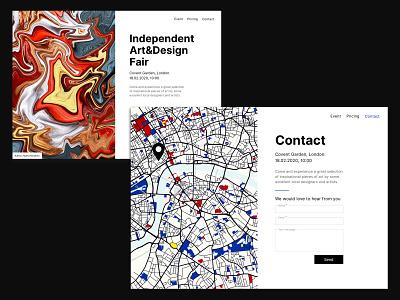 Art and Design Fair concept london abstract map contact form contact sketchapp web design ui 2d sketch concept design art