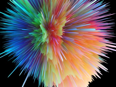 Explosion colorful explosion planet space digital cinema4d abstract 3d