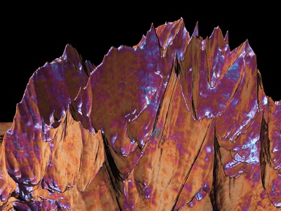 Trip to Mars mountains earth cinema4d space planet 3d
