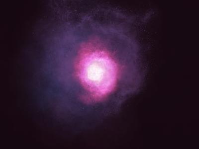 Millions light years away digital 2d illustration galactic space procreate