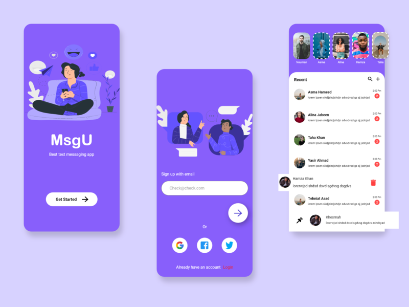 Chat App art designs ios app design ios chatting chat app chat illustration android uiux design android app uxdesign ux uidesign ui
