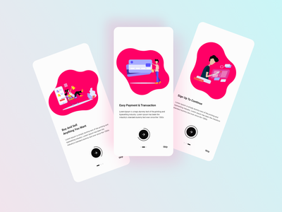 Minimal Onboarding Screens minimalism illustraion ios app design signup mobile android app design art minimalist onboarding minimal android app ios android ux design uiux ui ux ui design uidesign design