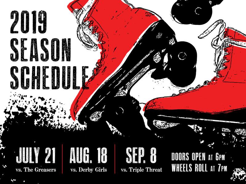 Roller Derby Schedule schedule gritty roller derby