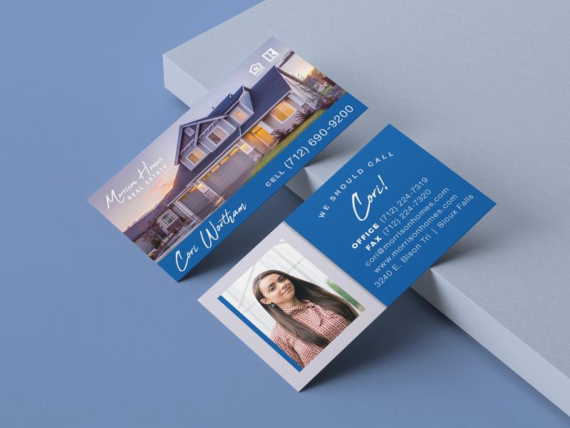 Real Estate Business Cards real estate typography business cards design business cards