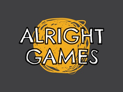Alright Games Logo board games identity branding logo
