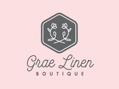 Grae Linen Logo floral boutique identity branding logo
