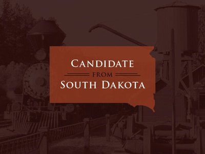 Candidate From SD running for office south dakota train campaign