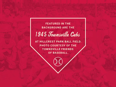 Townsville Cubs red base vintage baseball